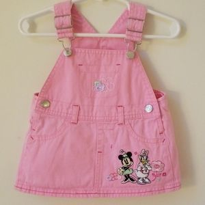 Vintage Disney embroidered overall dress